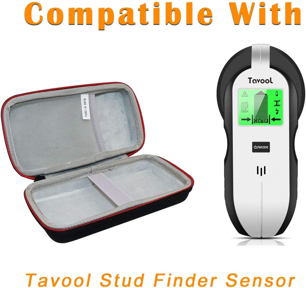 Asafez Hard Carrying Case Compatible with Tavool Stud Finder Sensor Wall Scanner Electronic Stud Sensor Beam Finders Wall Detector Center Finding