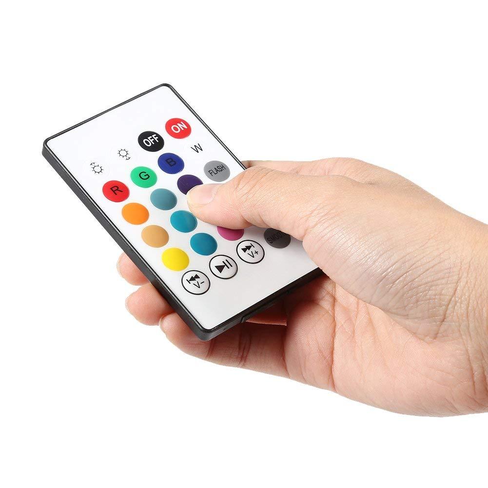 Bombilla LED inal/ámbrica con altavoz RGB E27,/12/W, Bluetooth, con mando a distancia Yosoo