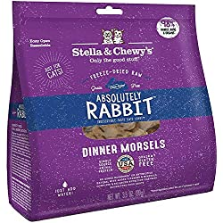 Stella & Chewy's Freeze-Dried Cat Treats, Absolutely Rabbit, Dinner Morsels, 3.5 Ounce, 8 Pack