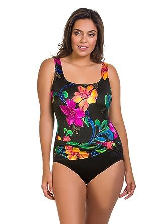 aa874ba011 Longitude Woman s Thailand Sash Tank One Piece Swimsuit