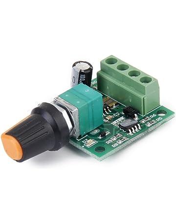 Dc Voltaje 1.8v 3v 6v 5v 12v 2a Velocidad Del Motor Controlador PWM Interruptor Ajustable