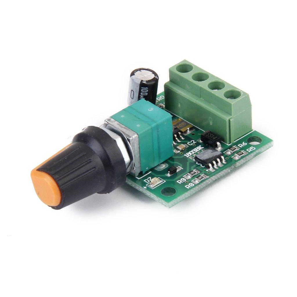 Tensione Continua 1.8v 3v 5v 6v Velocità Del Motore 12V 2A Controllore PWM Interruttore Regolabile MagiDeal STK0114012089