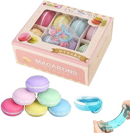 SIMUER 8PCS Macarons Slime Kit, Cristal Mud Kit Arcilla de caucho de Barro DIY Magia Plastilina Kid Juguetes: Amazon.es: Juguetes y juegos