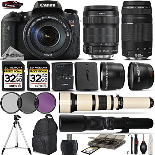 Canon EOS Rebel T6s DSLR Camera + Canon 18-135mm S...