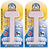 Nylon Dog Chew Toy- Bullibone Bacon XL Nylon Bone - 2 Pack- Improves Dental Hygiene, Easy to Grip Bottom, and Permeated With Flavor