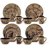 Mossy Oak 16-piece Assorted Dinnerware Set For Sale