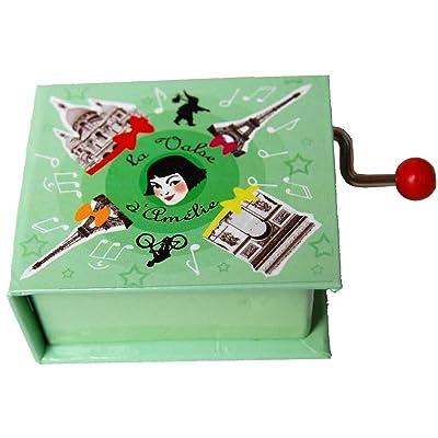 Caja de musica con Libro manivela y melodia de Amelie: Juguetes y juegos