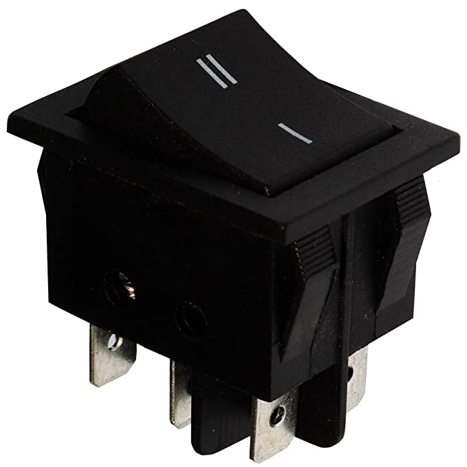 Interruptor conmutador basculantes de boton DPDT ON-ON 15A//250V 2 posiciones Negro C10798 AERZETIX