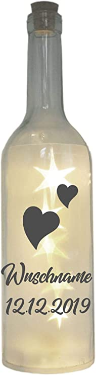 """zu Ostern I f/ür Frauen zum Geburtstag LED Flaschenlicht mit Spruch /""""Du bist mein Lieblingsmensch/"""" I Dekoflasche mit pers/önlicher Widmung I Geschenk als Dankesch/ön zum Muttertag"""