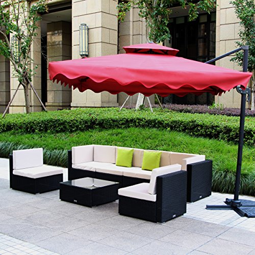 U-MAX 7 Piece Patio PE Rattan Wicker Chairs Sofa Sectional Furniture Set by  U - U-MAX 7 Piece Patio PE Rattan Wicker Chairs Sofa Sectional Furniture