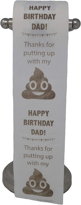 Happy Birthday Dad Toilet Paper, Funny Gag Gift, Decoration!