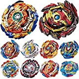 HIGBRE Gyros 10 Pieces Pack, Battling Top Battle Burst High Performance Set, Birthday Party School Gift Idea Toys for Boys Kids Children Age 8+