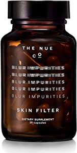 The Nue Co. - Natural Skin Filter Skincare Supplement   for Improved Skin Luminosity + Elasticity (30 Capsules)