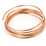 uxcell 冷却チューブ 銅線ワイヤコイル 細長いパイプ 配管 巻線 冷蔵庫 エアコン用 2M長さ 銅トーン