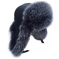NFRADFM Men's hat Winter hat Warm high-end Ear Artificial Leather Warm Outdoor ski hat