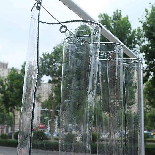 NEVY-Lona PVC Claro Lona Impermeable Ultra Transparente Hoja De Lonas De Plástico 500GSM Jardín Anticongelante Mantener Caliente La Película Cubierta del Invernadero Lona Toldo Lonas Impermeable: Amazon.es: Jardín