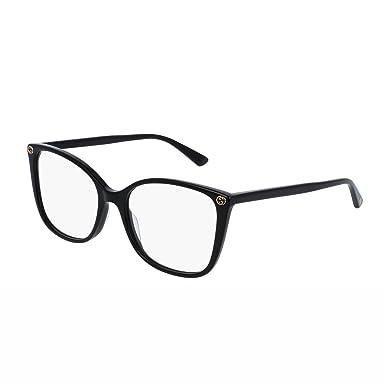 Gucci - Monture de lunettes - Femme Noir Noir Medium  Amazon.fr ... 9446611da01