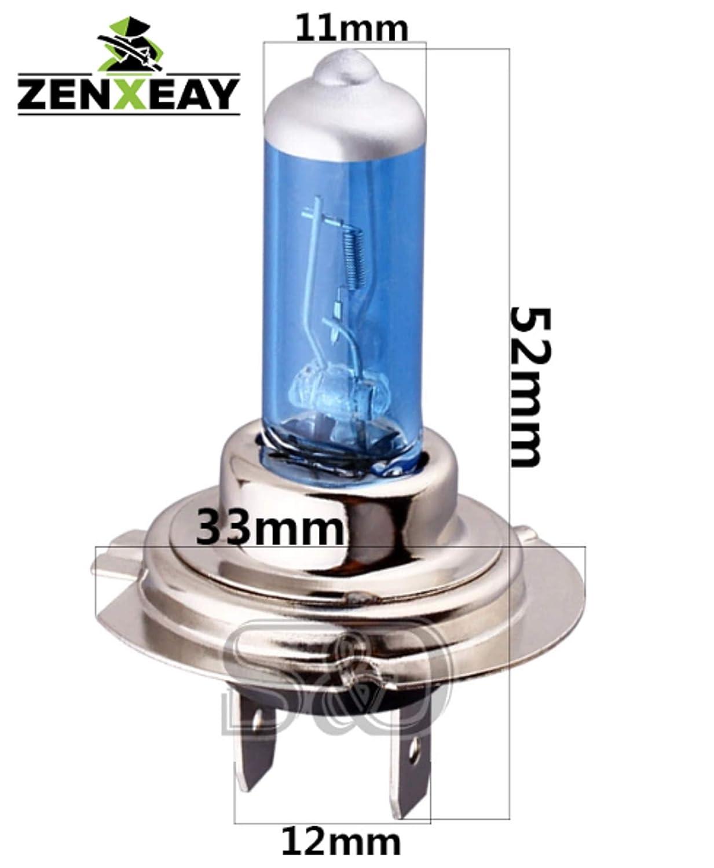 Halogen Leuchtmittel ZENXEAY H7 XENON BLUE Sportscar Edition Xenon Optik 2 St/ück Super White Birne 12V 55W
