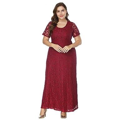 best authentic 3e8aa 6ac2e Ansenesna Kleid Damen Große Größen Lang Spitze Elegant Für ...