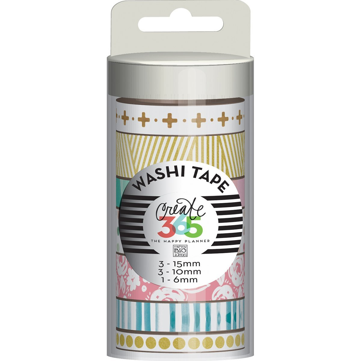 Talla Unica Me and My Big Ideas Set de 7 Washi Tape Hello Life para Create 365 Planner Materiales sint/éticos