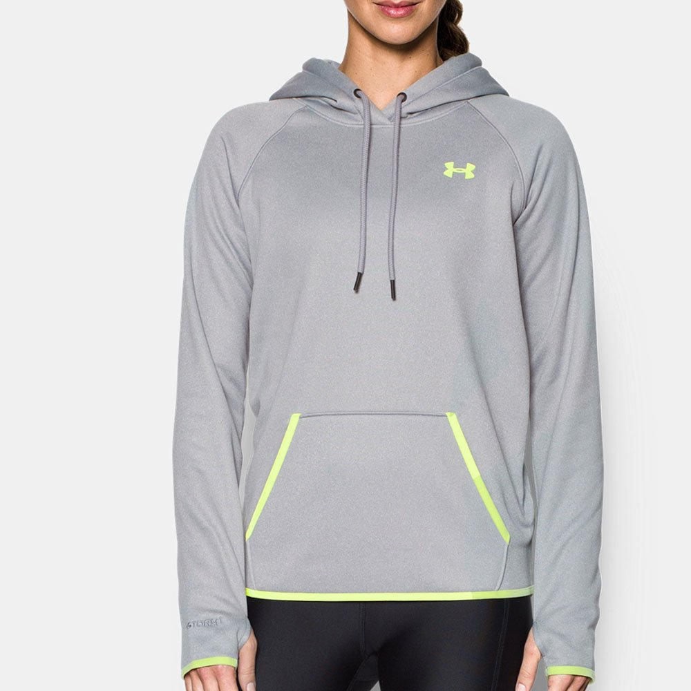 Under Armour Women 's Storm Armour Fleece Icon Hoodie 3L Grey/Moonlight B01FH5LY9I