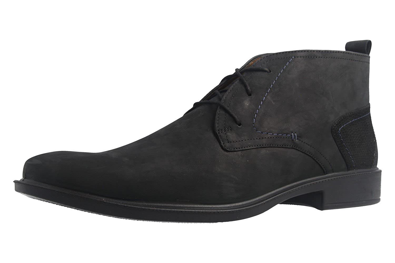 Jomos Chaussures Basses Homme en Cuir Noir Sportive, Weite H, Pied Lit, 2237111 39 Noir 47 EU