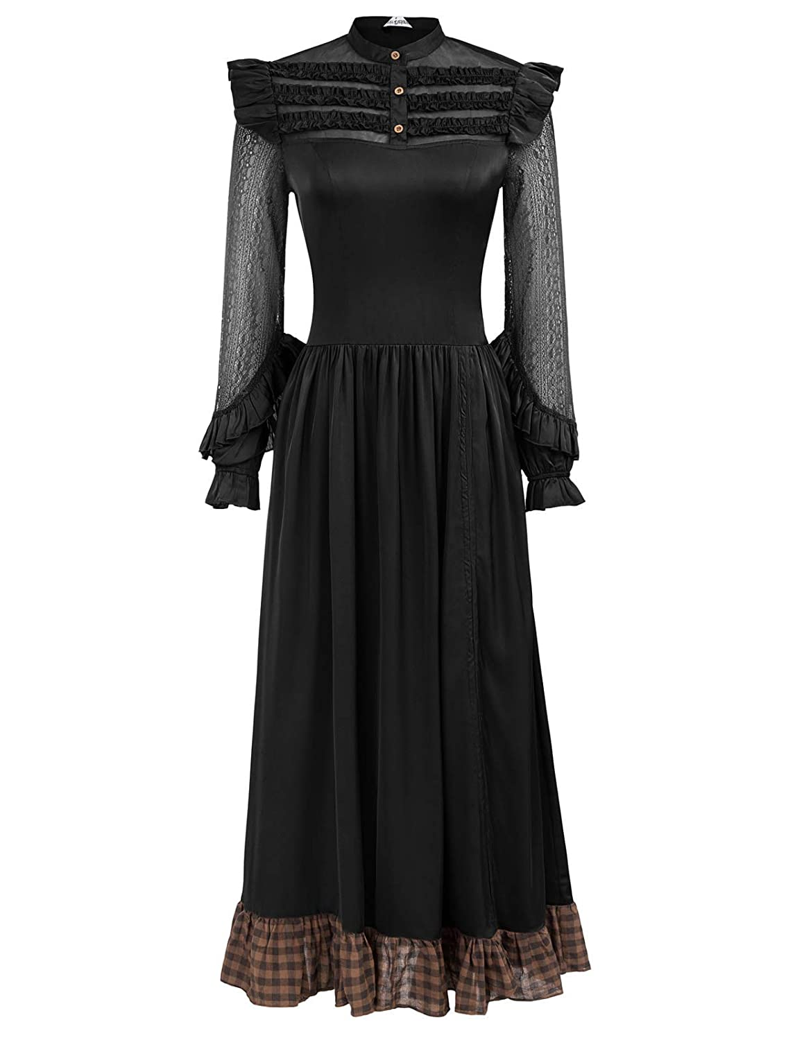 Victorian Dresses | Victorian Ballgowns | Victorian Clothing SCARLET DARKNESS Womens Victorian Renaissance Costume Adjustable Ruffle Dresses $29.99 AT vintagedancer.com