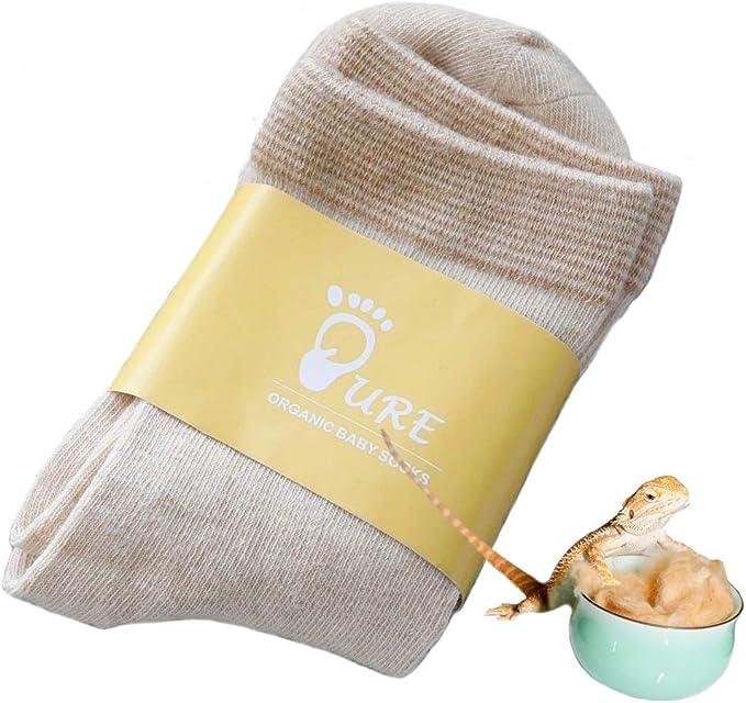 2 pares de calcetines para bebés de algodón orgánico PURE ...