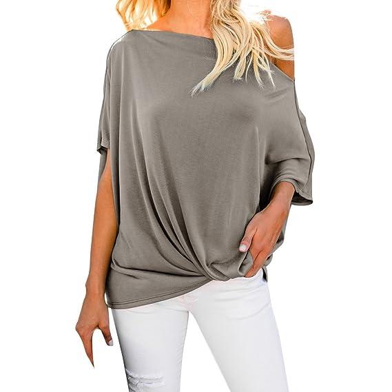 Rawdah_Camisetas Mujer Tallas Grandes Camisetas Mujer Verano Blusa Mujer Elegante Camisetas Mujer Manga Corta Algodón Camiseta Mujer Camisetas Mujer Fiesta ...