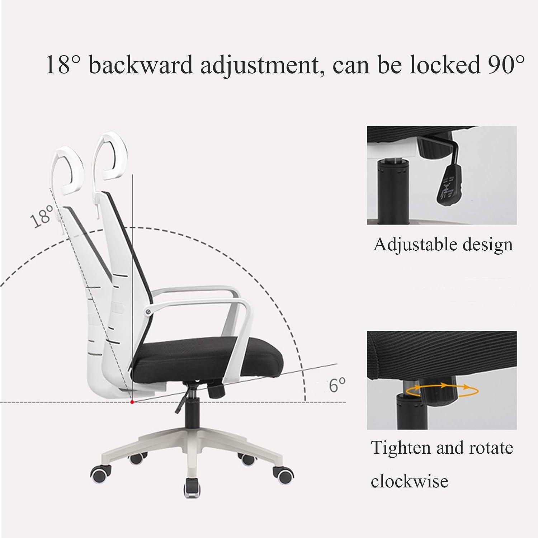 YYL kontorsstol kontorsstol, ergonomisk nät dator skrivbord stol med armar 360° vridbar arbete arbetsrum stol svängbar stol (färg: Stil2) Stil1