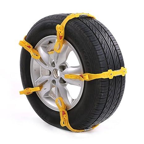 tc-gfr 10pcs ajustable coche neumático cadenas para la nieve de emergencia anti slip cadena