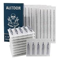 Tattoo Needles and Tips Kit - Autdor 50pcs Disposable Mixed Tattoo Needles + 50pcs Mixed Disposable Tattoo Tips, 5pcs of each 3RL 5RL 7RL 9RL 5RS 7RS 9RS 5M1 7M1 9M1 3RT 5RT 7RT 9RT 5FT 7FT 9FT