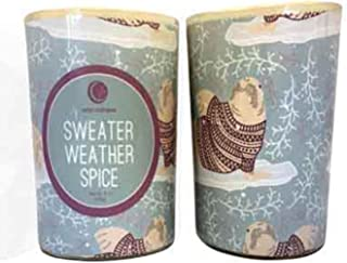 product image for Way Out Wax Holiday Candle Sweater Weather Spice Glass Tumbler Net Wt. 7 ounces