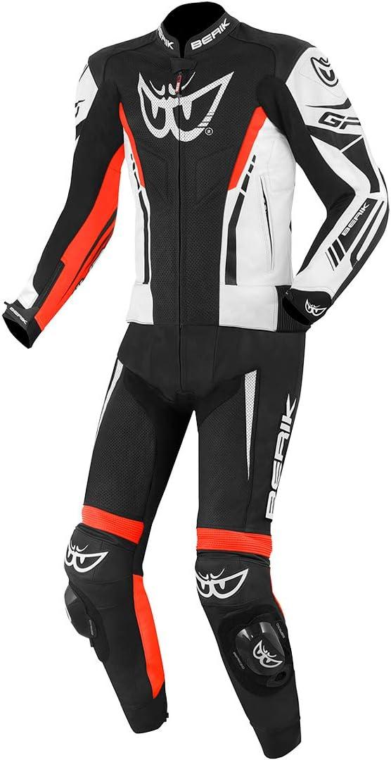 Berik Monza 2pc leather suit Black/White/Red Size 52