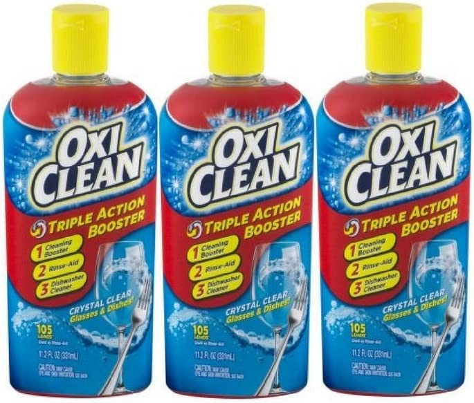 OxiClean Triple Action Booster, 11.2 FL OZ - Pack of 3
