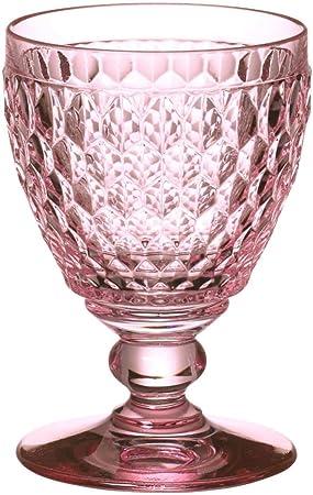 Villeroy & Boch Boston Coloured Copa de Vino Tinto Rose, 310 ml, Cristal, Rosa