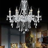 Boshen Crystal Candle Chandelier 6 Lights Fixture