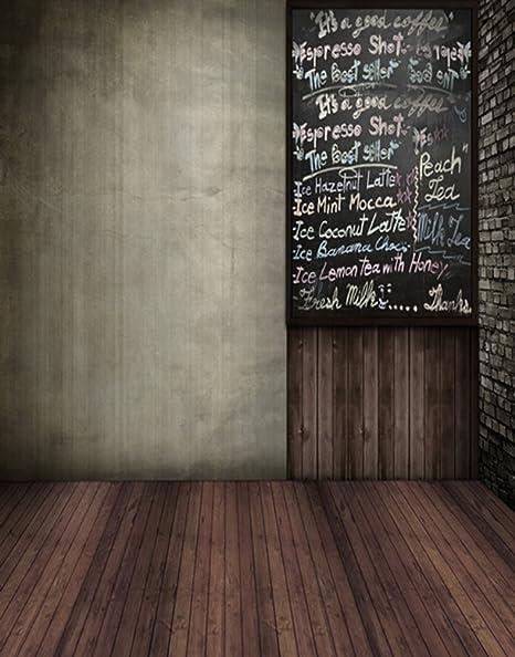 5 x 7ft suelo de madera pizarra fotografía fondo computer ...
