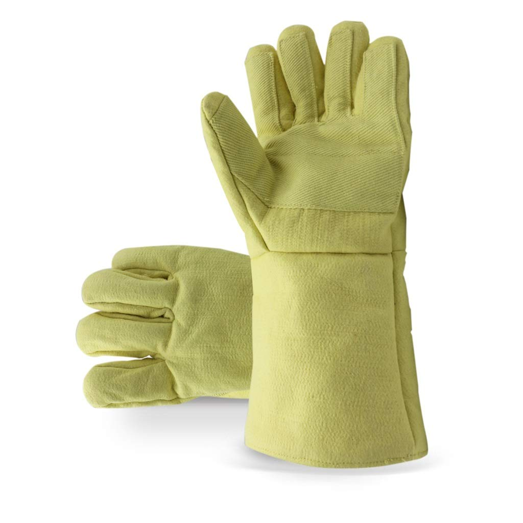 LZRZBH 500° High Temperature Fireplace Gloves Liquid Nitrogen Frozen Gloves for Protection Work Heat Resistant Gloves Welders Gauntlet Gardening Gloves