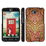 Mobiflare Slim Guard Armor Design Case for [LG Optimus L70, LS 620 Realm, Optimus Exceed 2] - Flower Power