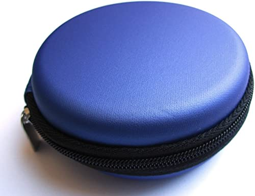 Blue Carrying Case for Bose IE2 MIE2 MIE2I SIE2 SIE2I IE1 MIE1 In-Ear Headphones Mobile In-Ear Headset Stereo Wired Sport Bag Holder Pouch Hold Box Pocket Size Hard Hold Protection Protect Save Black Sea International Logo Good Quality Micro Fiber Cleaning Cloth random color