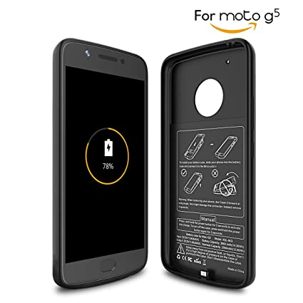 san francisco 4f495 e3587 Newdery Moto G5 Battery Case, 3800Mah G - 5Th: Amazon.in: Electronics