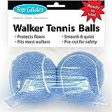 Top Glides Precut Walker Tennis Ball Glides - Light Blue - 1 Pair