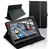 SQdeal® Classic Black 10 inch Universal Folio PU Leather Stand Case Cover for 10'' 10.1