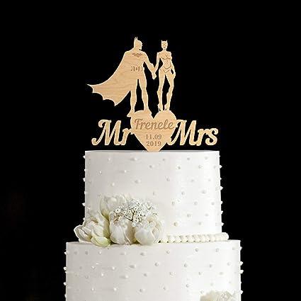Batman Wedding Cake.Amazon Com Batman Wedding Cake Toppersuper Hero Cake Toppersuper
