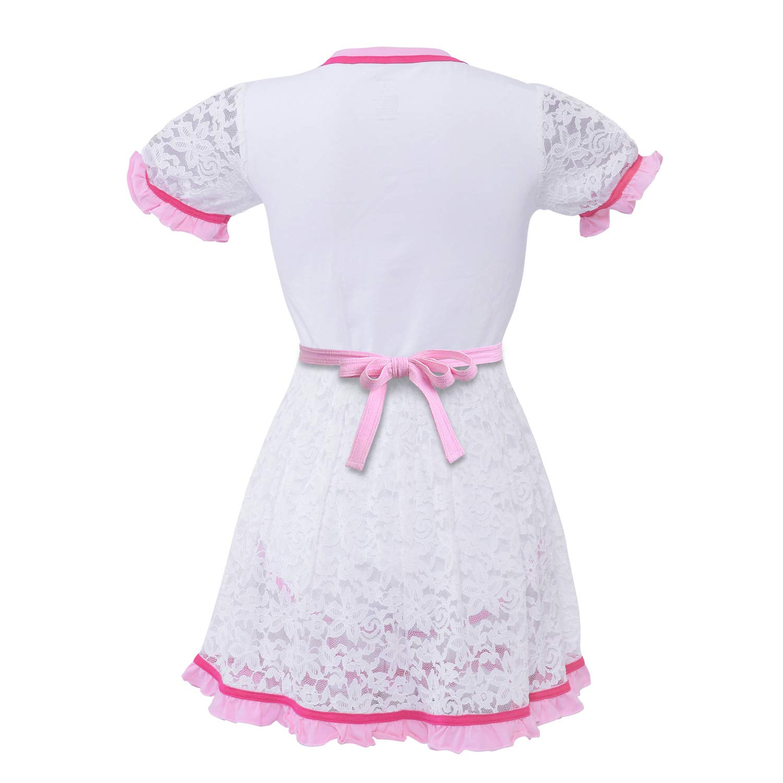 Princess Lacy Dress di pap/à Snap Crotch Pagliaccetto Pigiama LittleForBig Tutina per Pannolini per Beb/è per Adulti ABDL