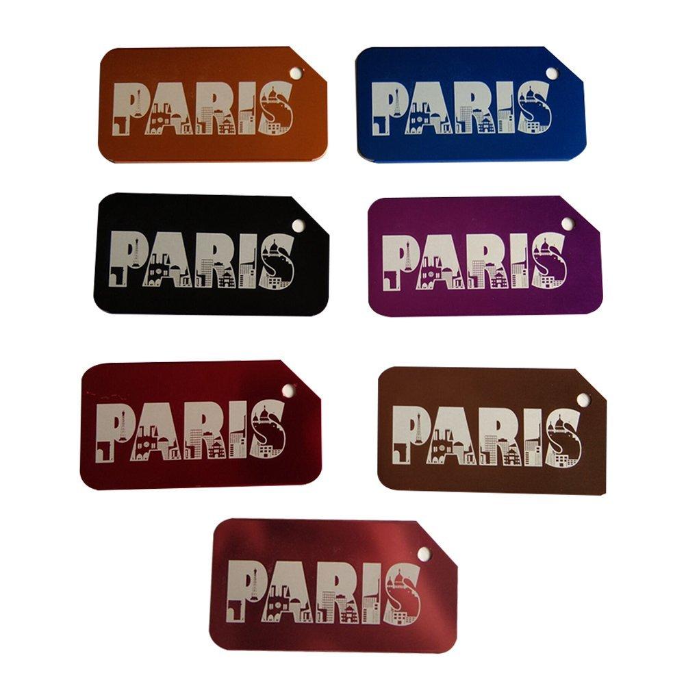 VORCOOL 7Pcs Luggage Tag Aluminum Travel Luggage Baggage Handbag Tag Fashion Environment Friendly Travel Luggage Tags by VORCOOL (Image #2)