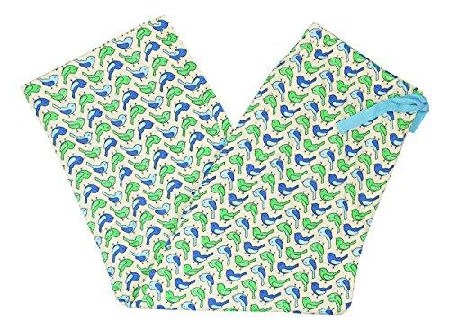 Charter Club Women's Printed Cotton Knit Cropped Pajama Pants (Birdie Rows, XL) (Cotton Pants Cropped Knit)