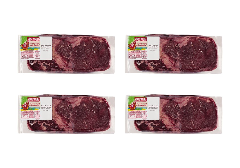 Rumba Meats Beef Cheekmeat Box, Frozen (Pack of 4)