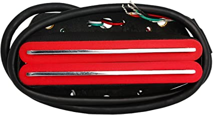 Hot Rail Humbucker Pickup doble cuchilla para guitarra eléctrica Fender Telecaster Tele partes de repuesto rojo: Amazon.es: Instrumentos musicales